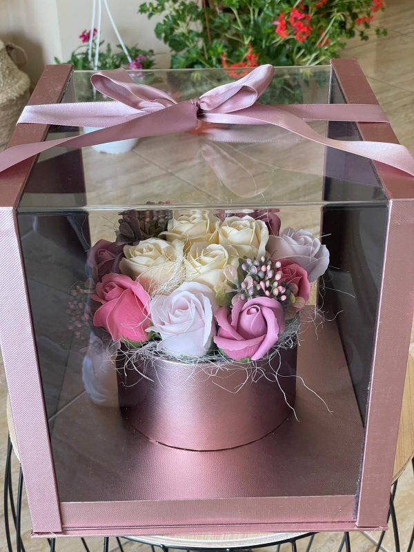 Cutie săpun White & Pink Roses