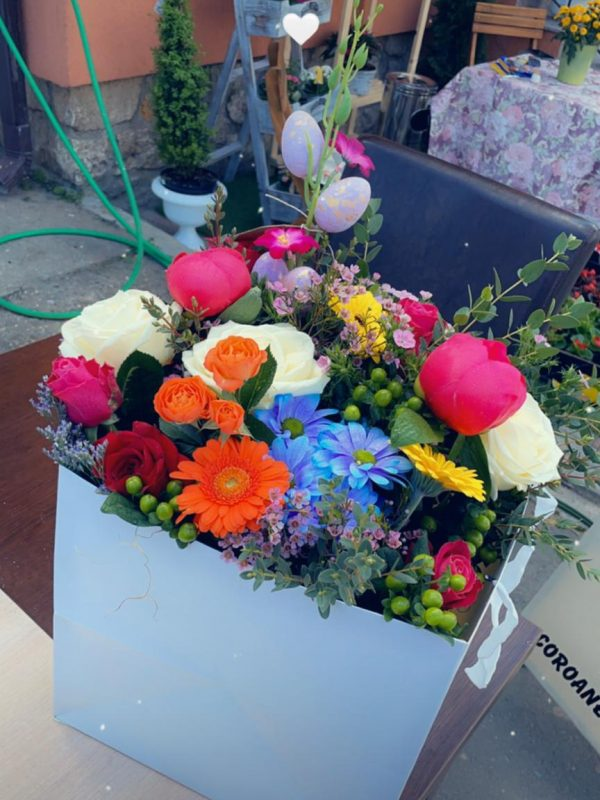 Cutie flori pastel