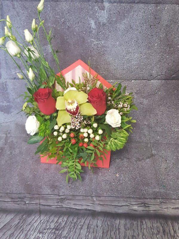 Cutie flori Envelope Roses