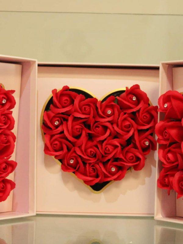 Cutie deosebita trandafiri săpun i LOVE U
