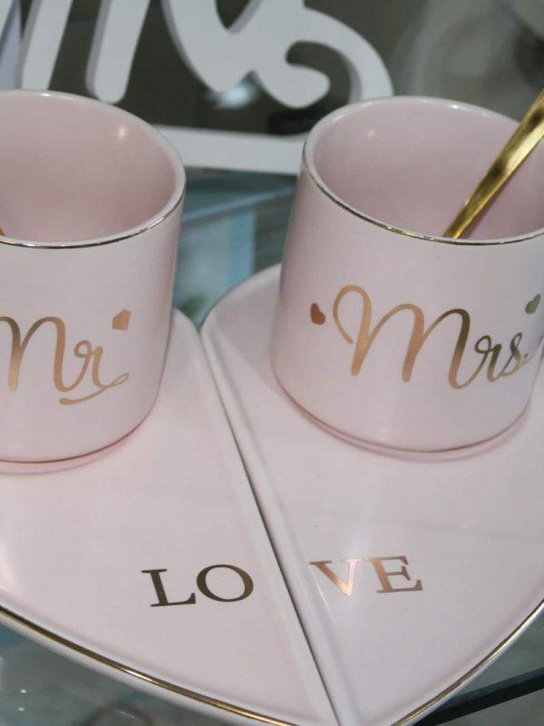Set căni Mr &Mrs Pink